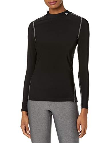 Starter Women's Long Sleeve Mock Neck Athletic Light-Compression T-Shirt