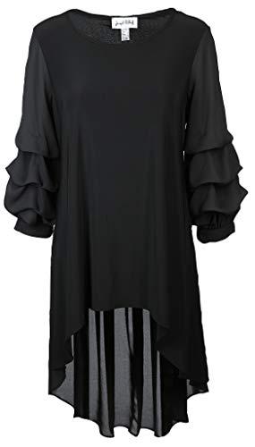 Joseph Ribkoff Damen Bluse Größe 44 EU Schwarz (schwarz)