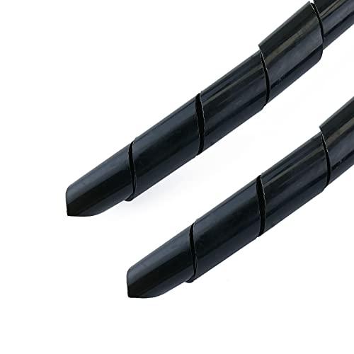 BeMatik - Organizador de Cables. Funda Negra en Espiral de 4-50 mm...