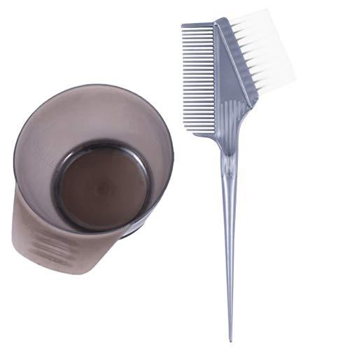 PIXNOR 2Pcs Outils de Coloration Des Cheveux Bol de Teinture pour Les Cheveux Brosse de Couleur de Cheveux Kit de Bol de Mélange Bricolage Outil de Coloration Des Cheveux Ensemble