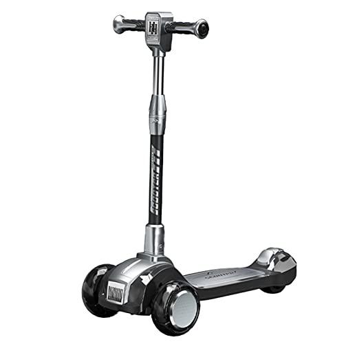 Patinetes Scooter Infantil, Pedales Reforzados, Capacidad De Transporte Fuerte, Altura Ajustable De 4 Velocidades, Adecuado para Niños De 3 A 10 Años.(Size:Negro)