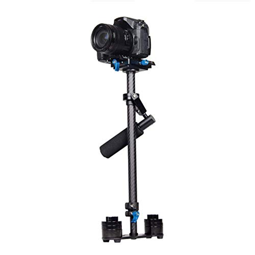 YWT Tragbarer Carbonfaser-Handkamerastabilisator [60 cm / 24 Zoll] mit Schnellwechselplatte [1/4 Zoll und 3/8 Zoll] für Spiegelreflexkameras mit einem Gewicht von bis zu 0,5-3 kg