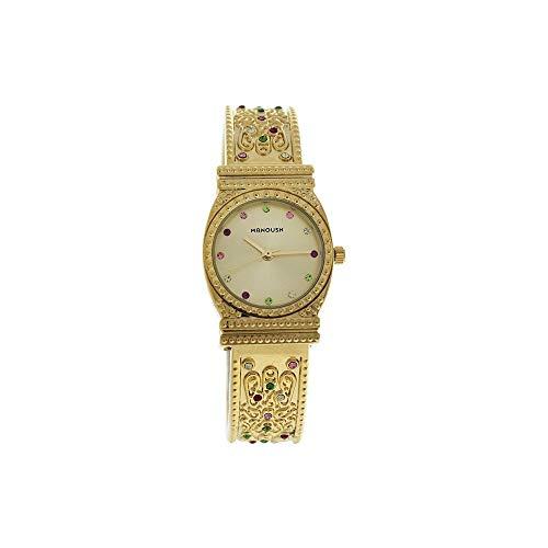 Manoush Unisex Analog Quarz Uhr mit Edelstahl Armband MSHMIG