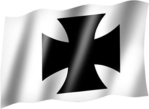 Flagge/Fahne EISERNES KREUZ Staatsflagge/Landesflagge/Hissflagge mit Ösen 150x90 cm, sehr gute Qualität