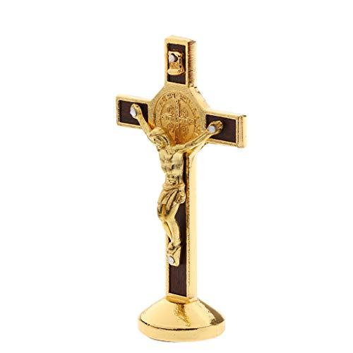 sharprepublic Kruzifix Jesus Christus Kreuz Statue Figur Für Auto Nach Hause Kapelle Dekor - Gold