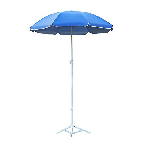 Parasols Außensonnenschirm Sonnenschirm Sonnenschirmständer Sonnenschirm runden Dach regendicht Sonnenschutz Falten (Size : 2Meter)