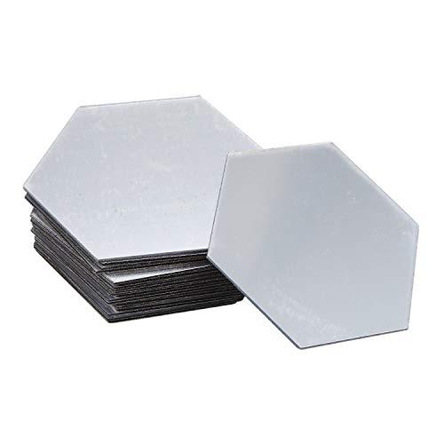 Haudang 24 espejos de pared/espejo de pared adhesivos/espejo hexagonal, decoración del hogar DIY