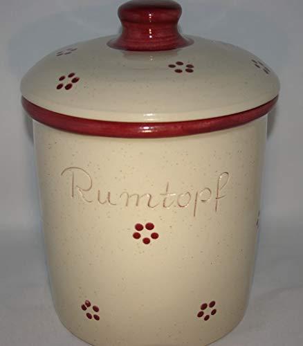 Töpferei Seifert Rumtopf 5 Liter/Dekor Rubin/Steinzeug