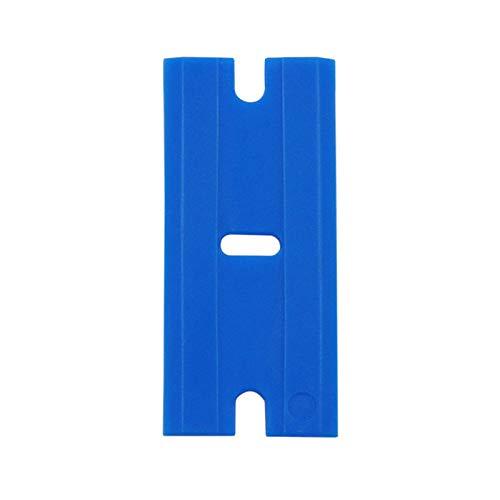 HaHawaii Plastic Blade, 100 Pcs Car Sticker Remover Plastic Razor Blades Scraper Auto Accessories Tool - Blue