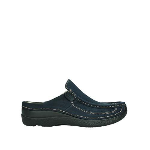 Wolky Comfort Roll Slide - 11800 blau Nubukleder - 38