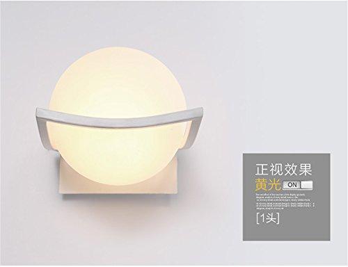 JJZHG wandlamp wandlamp waterdichte wandverlichting wandlamp LED vierkant creatieve vloerlamp warm slaapkamer bedlampje 160 mm * 160 mm bevat: Wandlamp, stoere wandlampen