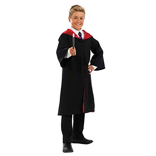 Fun Shack Disfraz de Mago o Bruja para niño o niña. Conjunto con túnica de Escuela de Magia para Chico o Chica, Talla XL