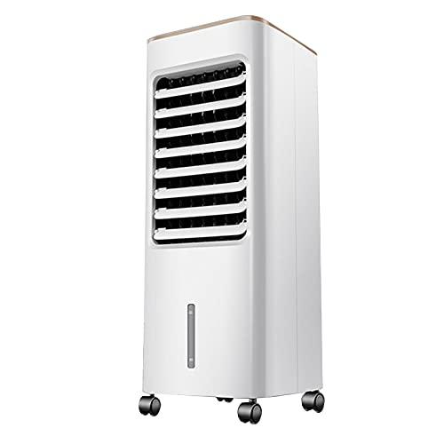 Enfriador de Aire Funciones De Humidificador Y Purificador De Aire, 55w De Bajo Consumo De Energía, 3 Velocidades De Ventilador Con Oscilación, Tanque De Agua Con Temporizador De 7 Hor(Color:Mecánico)