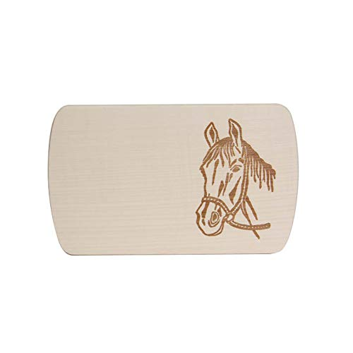 "Brink Holzspielzeug Frühstücksbrettchen Frühstücksbrett\""Pferd\"" mit kostenloser Namens-Gravur Vesper Holz Name Brett neu"