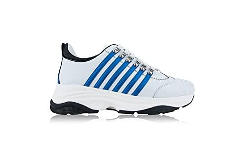 DSQUARED2 Bumpy 251 M328 - Zapatillas para hombre Blanco Size: 39 EU Larga