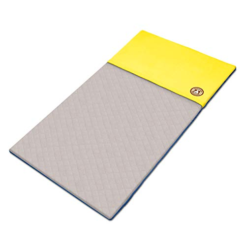 GuineaDad Liner - Midwest Size, Yellow   Guinea Pig Fleece Cage Liners   Guinea Pig Bedding   Burrowing Pocket Sleeve   Extra Absorbent Bamboo   Waterproof Bottom