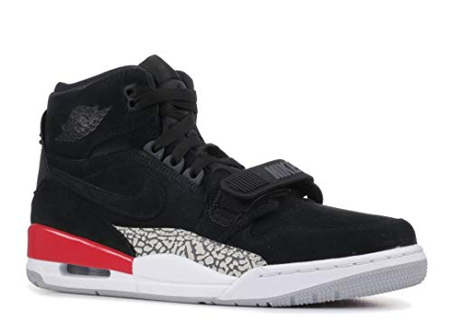 Nike AIR Jordan Legacy 312 Mens Fashion-Sneakers AV3922 (11, Black/Black/Fire Red)