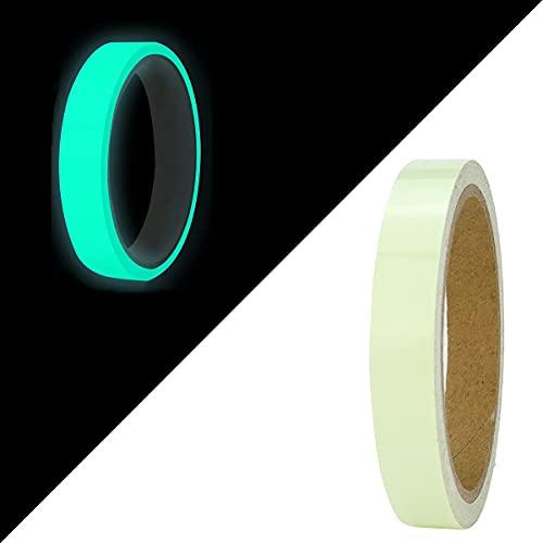 Hukimoyo Radium Tape Night Glow, Self-Adhesive Waterproof Phot Luminescent Glow Tape in the Dark Safety to Mark on Stairs, Walls, Exit Sign. 1.5 Cm * 5 Meter - 1 Pc (Sea Green)