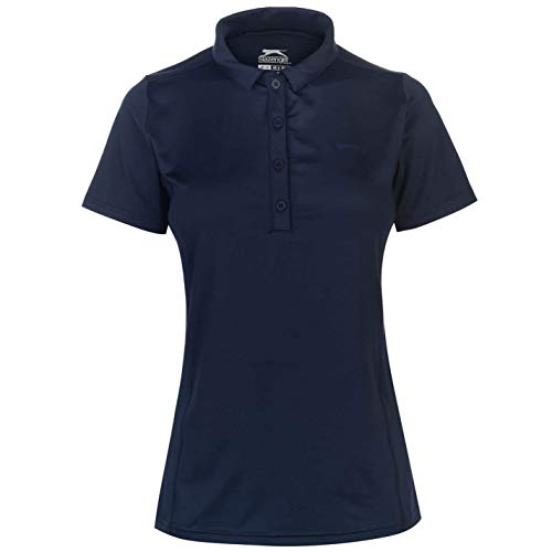 Slazenger Femme Polo T-Shirt Col Rond Manches Courtes...