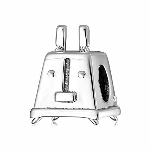 LISHOU Utensilios De Cocina Plata De Ley 925 Pancake Turner Batidor Espátula Colgantes Charms Fit Original Diseñador Charm Pulsera Fabricación De Joyas