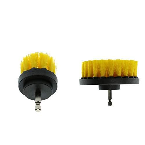 2 Unidads Brocha Cepillos de Limpieza Eléctrica para Cabinas de Ducha de Fibra de Vidrio