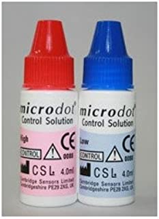 MCK20002400 - Links Medical Glucose Control Solution Microdot Blood Glucose Testing High / Low