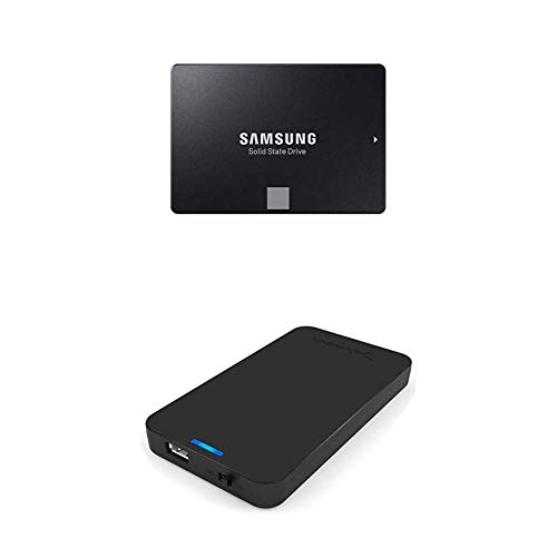 Samsung 860 EVO 250GB 2.5 Inch SATA III Internal SSD (MZ-76E250B/AM) with Sabrent 2.5-Inch SATA to USB 3.0 Tool-free External Hard Drive Enclosure
