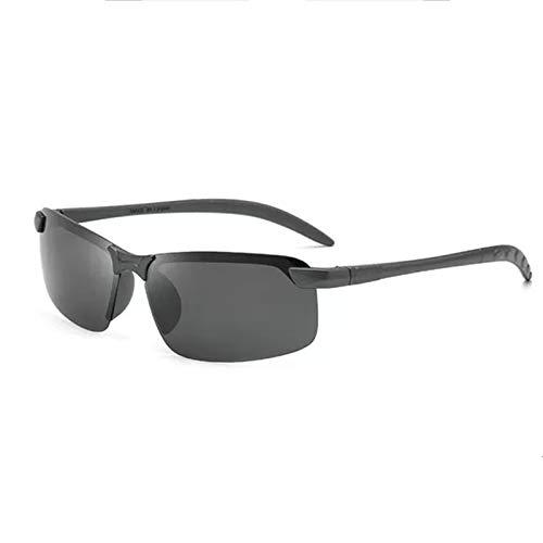Gafas De Sol Deportivas Polarizadas, Antirreflejos Rectangulares Ligeras, Adecuadas para Montar, Conducir, Pescar, Correr En Bicicleta,Negro
