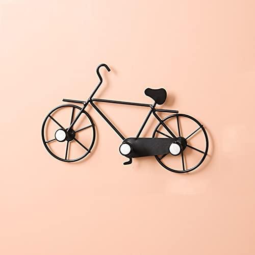 Forma bicicleta Soporte Llaves Pared, Colgador Llaves Pared Metal, Titular Llave Decorativa, Llavero Hierro Montado Pared para Puerta Delantera, Cocina o Garaje