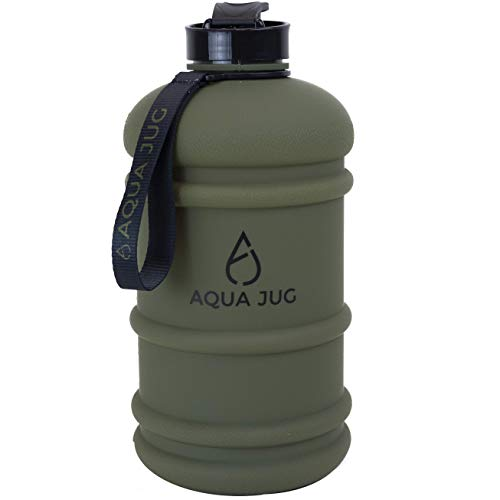 Aqua Jug Big Water Bottle, Dishwasher Safe BPA Free Drinking Water, Force Green 2.2L, Great for Gym Fitness Workout Sports Hiking and More