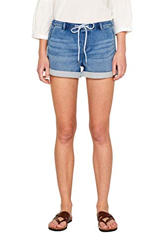 edc by ESPRIT Damen 059Cc1C005 Shorts, Blau (Blue Medium Wash 902) W29(Herstellergröße: 29)