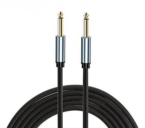 Cable de guitarra,1/4 TRS a 6,35 mm, 1/4 pulgadas, TRS, cable de audio estéreo simétrico 6,35 mm, cable de audio auxiliar para guitarra, iPod, mesa de mezcla, teclado digital (2m)