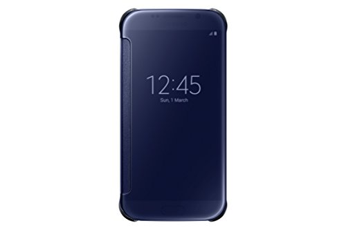 Samsung S-View Flip Cover for Samsung Galaxy S6 - Clear Black Sapphire