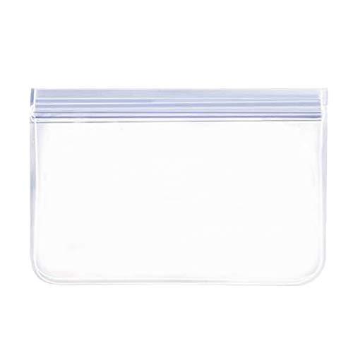 Fenteer El Envase Fresco Reutilizable del Sello Reutilizable del Congelador del Bolso del Almacenamiento de Alimentos del Silicón de PEVA, Mantiene La Comida - 1 pc 13.4x22cm, Individual