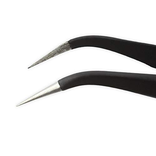 iFixit Precision Tweezers Set - Extra Fine, Angled, and Blunt Tips
