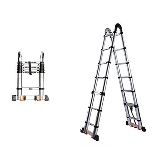 LIUCHUNYANSH Escalera Telescópica, Extensión Telescópica De Aluminio,Extensible, Capacidad De Carga 330 LB / 150 Kg (Size : Multifunctional 3.1M)