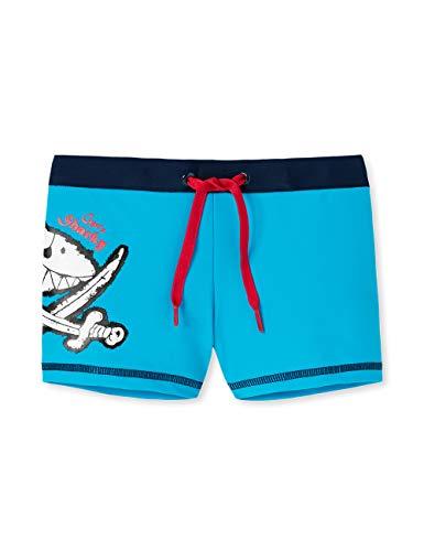 Schiesser Jungen Capt´n Sharky Bade-Retro Badeshorts, Blau (Admiral 801), 98 (Herstellergröße: 098)