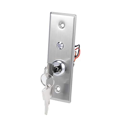 sourcing map EIN AUS Schlüsselschalter Türöffnungsschalter SPST für Zugangskontrolle mit DC 12V Rot Grün