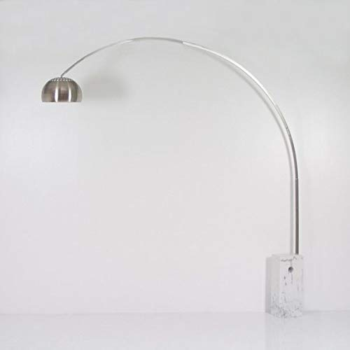 RADIUS Lampada da terra ad arco con base in marmo