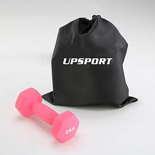 Vinyl Dumbbell Anti-Roll Dumb Bell Weights UPSPORT Non-Slip Grip for Men and Women Toning and Yoga Exercise Fitness Workout Dumbbell