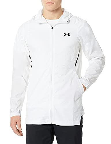 Under Armour Select Veste zippée pour Homme, Homme, Zip Up Sweatshirt, 1306000, Blanc (101) / Noir., L