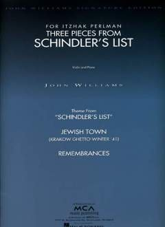 SCHINDLER'S LIST - 3 PIECES FROM FOR ITZHAK PERLMAN - arrangiert für Violine - Klavier [Noten / Sheetmusic] Komponist: WILLIAMS JOHN