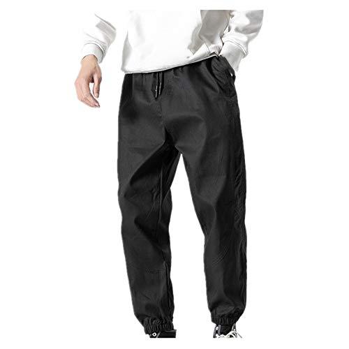 N\P Felpa Monos De Los Hombres De Otoño Y El Invierno De Gran Tamaño De Color Sólido Casual Cálido De Los Hombres De Nueve Puntos Pantalones