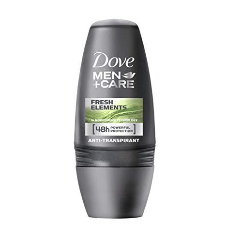 Desodorante para hombres de la marca Dove, con roll on. Cuida tu piel. Elementos frescos. Antitranspirante. Pack de 6 unidades de 50 ml