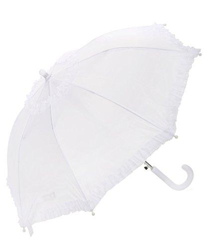 Weißer Regenschirm