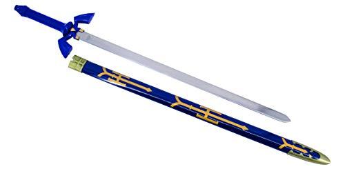 KOSxBO® XXL 100 cm Zelda Master Sword Schwert Legend of Zelda Single Sword - Swords - Schwerter - Edelstahl Klinge - Originalgetreu 1:1 Cosplay