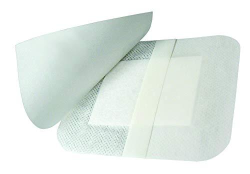 Euromed (cm 10 x cm 8-50 Unidades) Apósito Adhesivo en Tejido noTejido, con Compresa No Adherente con Alto Poder de Absorción,Suave y Adaptable. Fabricado en Italia