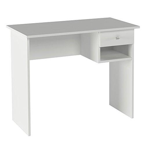 Hogar24 - Mesa Escritorio, Mesa Estudio con cajón y Estante Color Blanco.Medidas: 90 x 73 x 50 Fondo