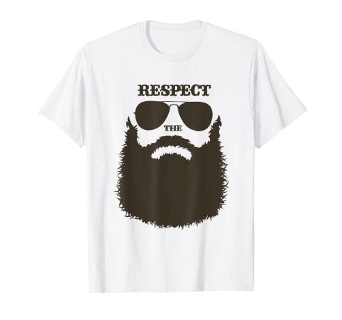 Funny Full Beard Men Facial Hair Bearded Camiseta