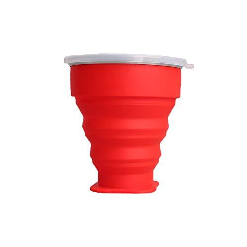 KINDOYO Vaso Silicona Plegable - Vaso Plegable Tazas de Café con Tapa...